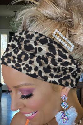 Black Leopard Print Headband