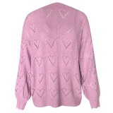 Heart Pattern Hollow Out Sweaters