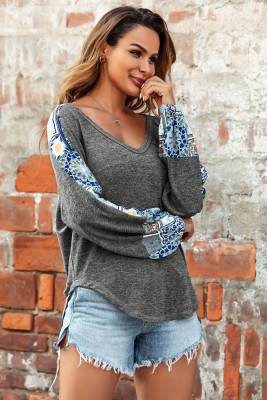 Boho Loose V Neck Top