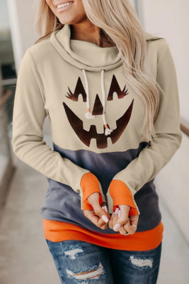 Halloween Smile Print  Sweatshirts
