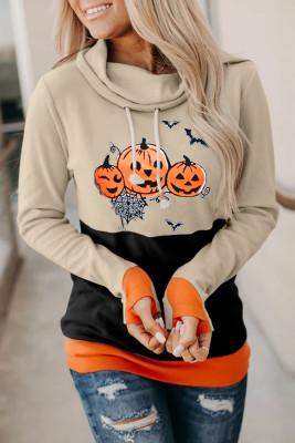 Halloween Pumpkin Print  Sweatshirts