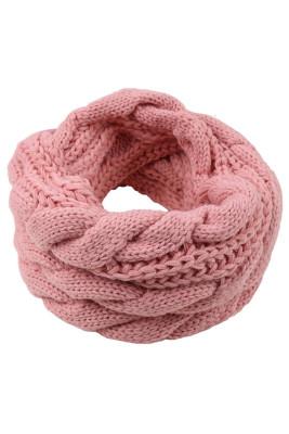 Pink Classic Fashion Knit Circle Scarf