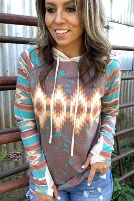 Digital Printed Long Sleeve Women Hoodies