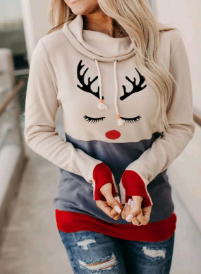 Christmas Deer Print  Sweatshirts