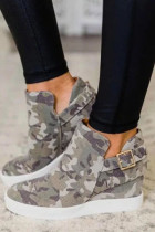 Camouflage Print Woman Shoes