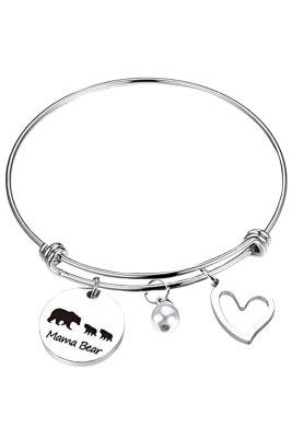 Three Bears Beading Silvery Adjustable Bracelet