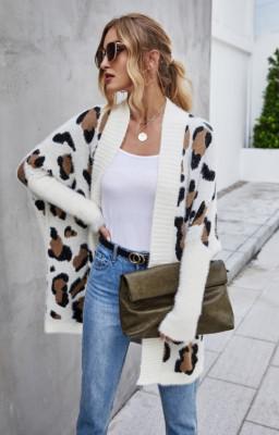 Leopard Print Woman Cardigan Coats