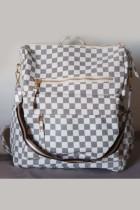 Plaid Large Capacity Backpack