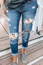 Ripped Snowman Jeans