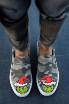 Army Green Christmas Graphic Shoes