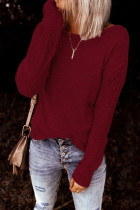 Wine Red Backless Knot Tops