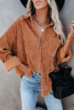 Brown Oversized Button Shirts