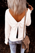 White Backless Knot Tops