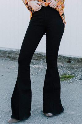 Black Bell Bottom Jeans