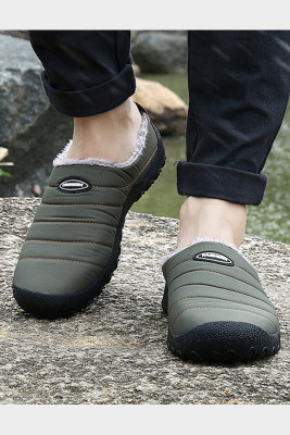 Khaki Men's Striped Antislip Shoes