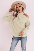 Apricot Off Shoulder Cross Sweaters