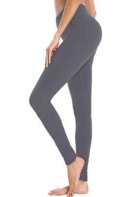 Dark Grey Hip Bottoming Yoga Pants