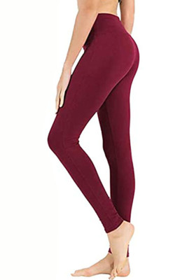 Wine Red Hip Bottoming Yoga Pants