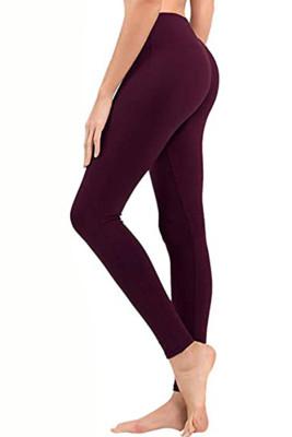Dark Red Hip Bottoming Yoga Pants