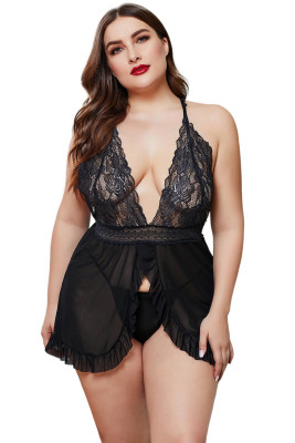 Black Plus Size Women Lingerie