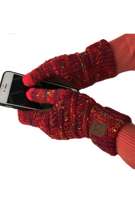 Red Thick With Lable Gloves
