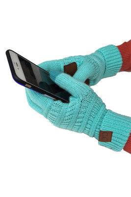 Blue Thick With Lable Gloves