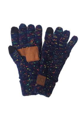 Navy Thick With Lable Gloves