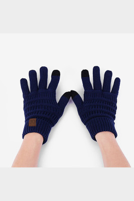 Dark Blue Thick With Lable Gloves