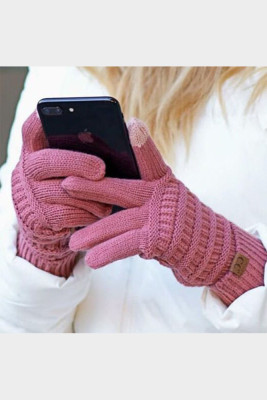 Pink Thick With Lable Gloves