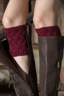 Wine Red Kintted Warm Socks