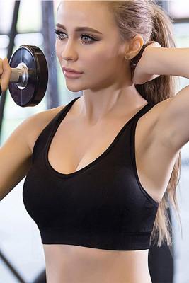 Black Yoga No Rm Sports Bra