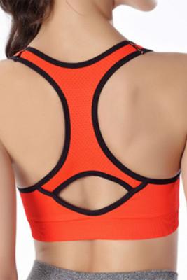 Orange Yoga No Rm Sports Bra