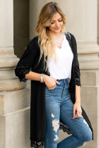 Black Lace Patchwork Cardigans