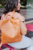 Brown Front Pockets Backpack