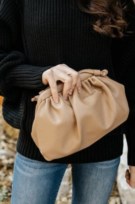 Khaki Clutch Crossbody Bags