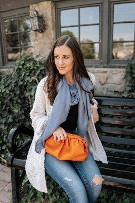 Orange Clutch Crossbody Bags