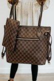 Brown Plaid Tote bag