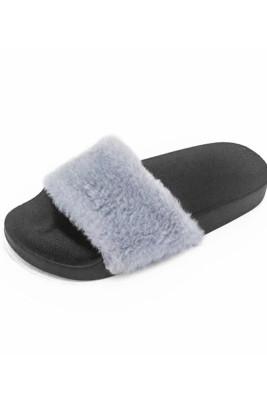 Grey Non-slip Thermal Slippers