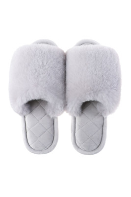 Grey Home Warm Slippers