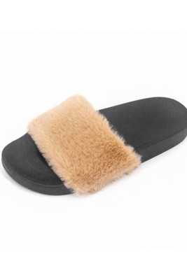 Khaki Non-slip Thermal Slippers