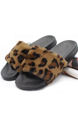 Leopard Non-slip Thermal Slippers