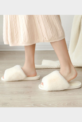 White Home Warm Slippers