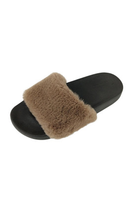 Brown Non-slip Thermal Slippers
