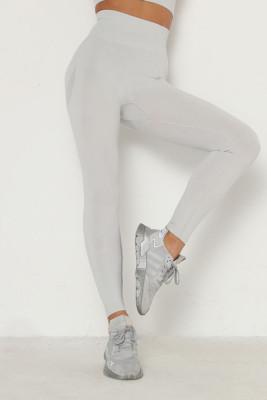 Light Blue Solid Color Yoga Leggings