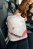 Beige Double Pockets Backpack