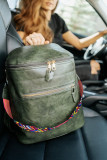 Green Double Pockets Backpack