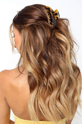 Brown Leopard Print Hair Claw