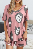 Pink Twist Tie Dye Pajamas Set