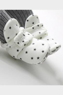 White Baby Soft Bottom Velvet Cotton Shoes