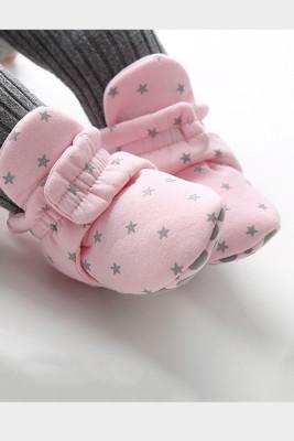 Pink Baby Soft Bottom Velvet Cotton Shoes